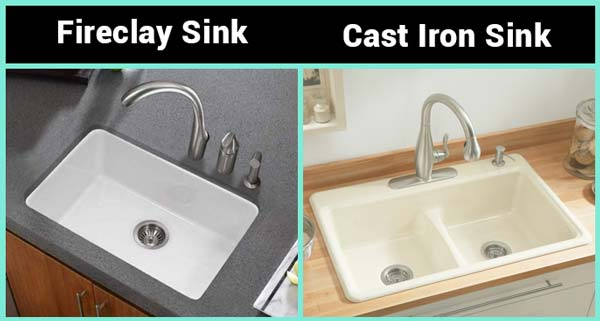 Cast Iron vs Fireclay Sink