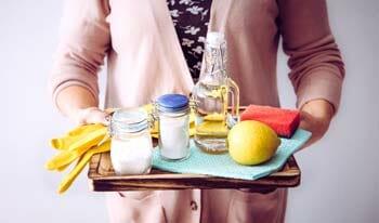Baking Soda, Dishwashing Liquid And Vinegar