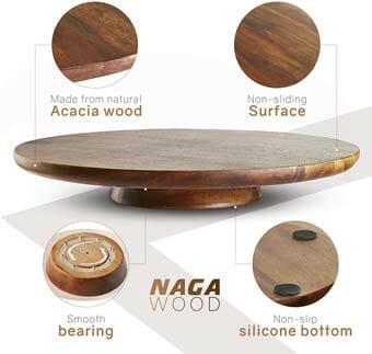 Wood Cake Stand Acacia – 13 inch Cake