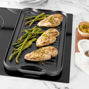 AmazonBasics Reversible Grill/Griddle