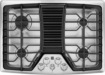 Downdraft Cooktop in Stainless Steel